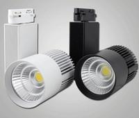 Nouveau design 10pcs la vente au détail / lot 30W AC110-240V Noverty COB Rail d'éclairage LED, lampe Wall Spot, Spot haut meilleur rapport qualité prix