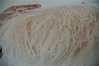Free Shipping 10 yards/lot ivory cream ostrich feather trimming fringe 5- 6inch in width for weddings party festive decor