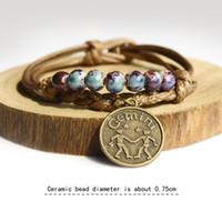 nuova Europa e Stati Uniti di moda della costellazione dodici completamente fatto a mano Il braccialetto all'ingrosso gioielli in ceramica