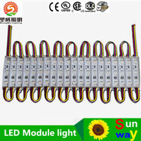 módulo LED lámpara de luz SMD 5050 cartas de la muestra del LED SMD5050 luz posterior 20pcs 3 llevado DC12V IP65 envío libre