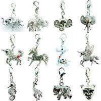 Befordran! DIY MIX Försäljning Helt ny grossistpris Högkvalitativ mode Elephant / Horse Hummer Clasp Charms för Smycken Tillbehör