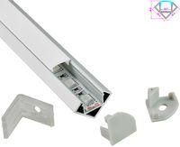 10X0.5M Profilo in alluminio con angolo a 30 gradi ed estrusione per canale ad angolo V per luce di strisciamento a led smd5050,5630,3528