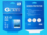 300 unids / lote Venta caliente 274 * 199mm Bolsa de caja de venta al por menor para iPad Air 1 2 10 pulgadas Protector de pantalla de vidrio templado Protector de pantalla al por menor DHL gratis