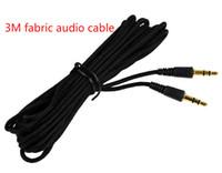 Новые тканые универсальные длинные 3 м 5 м 7 м черный черный 3,5 мм аудио разъем мужчины до 3,5 мм мужской аудио Aux стерео кабельный кабельный шнур для MP3 iPod Acceper Accessio