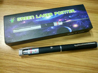 Bester grüner Laser-Zeiger 2 in 1 Stern-Kappen-Muster 532nm 5mw grüner Laser-Zeiger-Stift mit Stern-Kopf-Laser-Kaleidoskop-Licht mit Paket DHL
