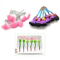 Plastic Rose Types Professional Makeup Brushes Kit 6pcs set ...