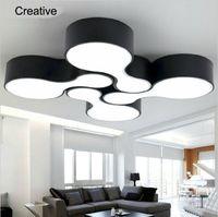 현대 LED 천장 조명 무료 일치 천장 샹들리에 조명기구 거실 침실 발코니 주방 식당