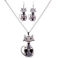 MS1504521 мода ювелирные наборы высокое качество ожерелье наборы для женщин ювелирные изделия Кристалл смолы уникальный кот животных океан дизайн
