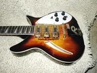 Nouvelle arrivée personnalisée 6 cordes guitare électrique Sunburst 3 micros instruments de musique corps solide de la chine