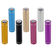 Cylinder Metal Portable USB Mobile Power Bank Charger Pack B...