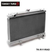 Tansky-Manual Racing الألومنيوم الرادياتير يصلح لنيسان سيلفيا S14 S15 SR20DET 240SX 200X 2 صف 50 مم TK-R111RAD