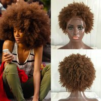 Human Hair Wigs For Black Women Peruvian Afro Kinky Curly La...