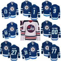 2016 Winnipeg Jets Jersey 40 Joel Armia 44 Josh Morrissey 55 Mark Scheifele 56 Marko Dano 81 Kyle Connor jersey cosido Logotipos