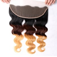 Ear To Ear 3 Tone Peruvian Body Wave Lace Frontal Closure 13...