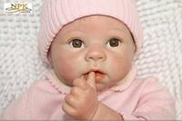 """NPK Collec 22 """"Neonate Neonate giocattolo in silicone neonato Neonato realistico con vestiti Occhi marroni Mohair Molto Cuted"""