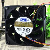 Original autêntica AVC 2B12038B48U DC 48V 1.3A 120 * 120 * 38MM quatro fios DC grande fã vento