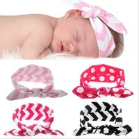 Baby Headbands Striped Bows for newborn Kids party hairbows ...