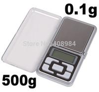 뜨거운 판매 무료 배송 미니 500g / 0.1g 디지털 디스플레이 포켓 디지털 저울 보석 무게 균형