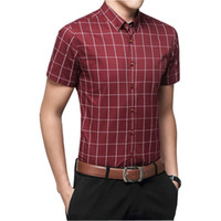 Wholesale-2016 100٪ جودة عالية قمصان رجالي الأزرق قميص الرجال السببية مخطط قميص الرجال camisa الغمد الاجتماعي قميص أوم M-XXXL