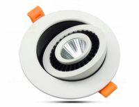 Горячей продажа Диммируемого Led COB потолок светодиодного светильников 7W 10W 15W 360 градусов вращая 110 / 220V Теплых Холодных естественного белого Крытого встроенного освещения