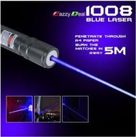 NOUVEAU haute puissance 1000m 405nm puissant pointeurs laser violet-bleu violet SOS Lazer enseignement de la chasse lampe de poche, livraison gratuite
