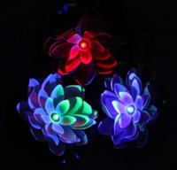 8 photos wholesale christmas pool floats online new powered lotus flower outdoor solar light practical garden pool