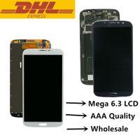 삼성 Galaxy Mega 6.3 LCD 터치 스크린 디지타이저 디스플레이 어셈블리 (프레임 I9200 스크린 수리 부품의 유무에 관계없이)