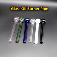 Commercio all'ingrosso 4.0 pollici Pyrex Glass Bruciatore di olio tubi con 6 colori a buon mercato Mini Bruciatore di vetro Bruciatore di olio Tobacco Accessori per fumo ODM ODM accettato