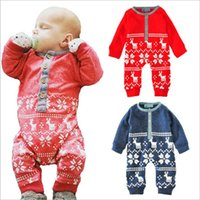 bacc72c7151 New Arrival. Christmas Baby Clothes Toddler Xmas Elk Rompers Newborn Winter  Cartoon Onesies Cotton Deer Jumpsuits Kids Bodysuits Fashion Overalls B3306