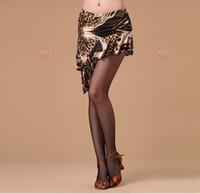 Бесплатная доставка женщин латинский танец юбка красный / черный / леопард коктейльные платья молочный шелк самба / сальса / пасодобль практика / производительность танцевальная одежда
