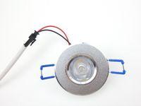Encastré 12V LED plafond Lustre 3W 1W Ampoule ronde Argent pour Chambre Hôtel Supermarket décoratif Lampes lumineux Chip WW CW CE ROSH