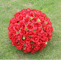 """12 """"30 cm Noel Süsler Için Yapay Gül İpek Çiçek Kırmızı Öpüşme Topları Düğün Parti Süslemeleri Malzemeleri"""