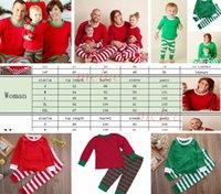 Рождественские ins inshife взрослые красные зеленые семьи сопоставляющие рождественские олени полосатые пижамы пижамы ночная одежда пижама постельное бедноснабжение ленко