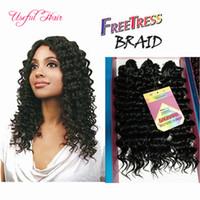 3 pçs / pack sintético crochet tranças de cabelo de alta qualidade 10inch jerry curly torção trança cabelo ombre cor pré-loop savana jerry curl