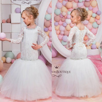Mermaid 2016 Lace Flower Girls' Dresses For Weddings Lo...