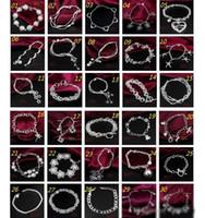 30PCS / Lot Mix Order Vente en gros 925 Sterling Silver Plaqué Lien De Mode Chaîne Bracelets Bijoux