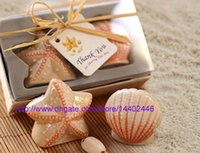 50pairs = 100pcs / lot 조개 바다 쉘 스타 물고기 불가사리 해상 해변 바다 소금 고추 셰이커 웨딩 파티 선물 선물