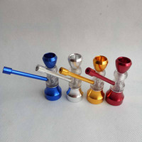Mini-Wasserpfeife für Tabak Rauchen Zigarette Metall Hand Wasser Dry Herb Pipe Filter 4 Farbdisplay Glaspfeifen Kleine Shisha Werkzeuge Zubehör