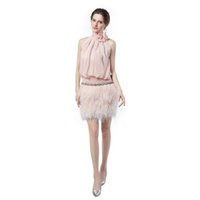 Feder-Abschlussball-Kleider 2020 reizvolle Art und Weise hohe Ansatz Partei-Kleid-Robe de Soiree Abendkleid Vestidos Longos Para Formatura