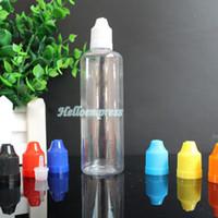 Ejuice 100ml flacons compte-gouttes en plastique avec des couvercles de preuve d'enfant Longue pointe mince Hight qualité clairs 100 ml vide des bouteilles d'huile essentielle pour E liquide