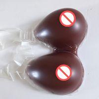 Sehr große Größe Brown Farbe transgender Silikonbrustform Enhancer BH Gummi Brüste prothesis von Silica in der Brust DWT Benutzer