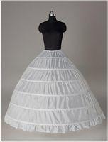 2016 Ücretsiz Kargo Ücretsiz Boyutu Balo Düğün Petticoats 6 Çemberler Stokta Büyük Top Gelin Underskirts Beyaz Akşam Balo Petticoat mo93