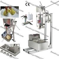 Livraison gratuite en acier inoxydable Manuel 5L Spanish Donuts Churrera Churros machine Maker avec 5L Friteuse électrique stand 1L Filler