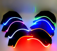 Berretto da baseball sportivo da uomo, da donna, moda, sport, cappellino, discoteca, hip-hop, festa, berretto baseball, luce, correndo, portato, illuminato, su, bagliore, cappello, nero