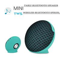 Nouveau Mini Tissu Bluetooth Président JC-210 TWS Haut-Parleur Tandem Sans Fil Avec Lecteur de Carte USB / AUX / TF Art Cloth Magic plate Subwoofer