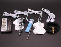 4 tipi giocattoli del sesso di scossa dell'elettrone: spina di estremità, suono uretrale elettrico, anello di gallo di gomma, rilievo di gel dell'elettrodo, giocattolo a tema medico