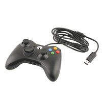 Controller Gamepad USB cablato con Joypad per Microsoft per Xbox Slim 360 per PC per Windows 7 Colore nero Joystick Game Controller