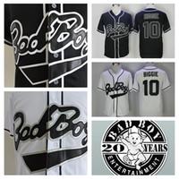 Новые Biggie Smalls 10 плохой мальчик черный белый бейсбол Джерси дешевый Badboy Biggie Smalls трикотажные изделия сшитые 20-й патч