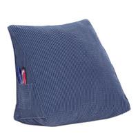 Пушистая твердая пуховая альтернативная треугольная подушка подушки для клина для дивана-кровати Рединг спинки, вельвет, упаковка из 1, сплошной цвет