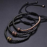 Прохладный летний Zircon браслет браслетов браслетов браслеты для женщин золотые шапки микропроставщики CZ бусины из витой макраме валентин
